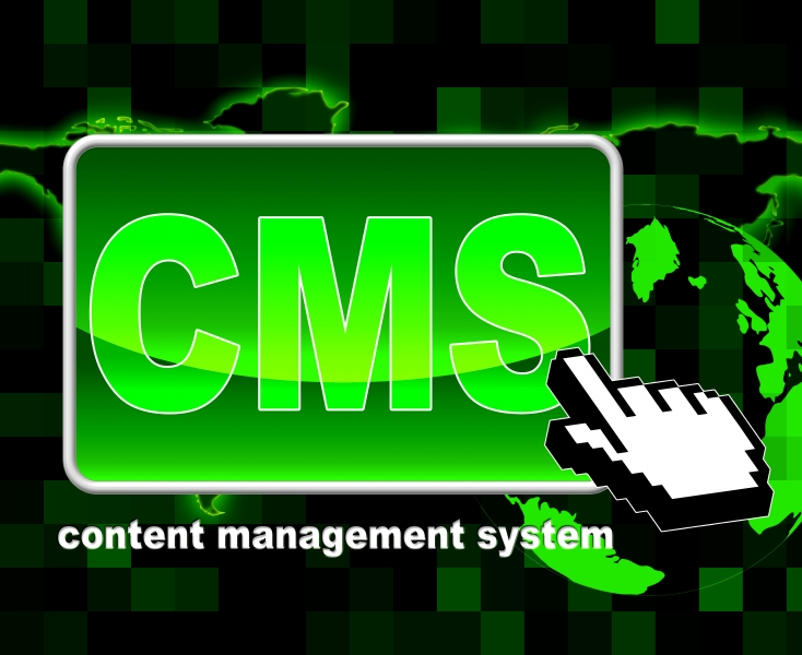 9888134-content-management-system-represents-world-wide-web-and-searching